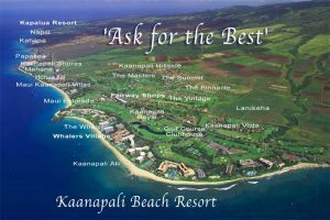 Kaanapali resorts & activities map